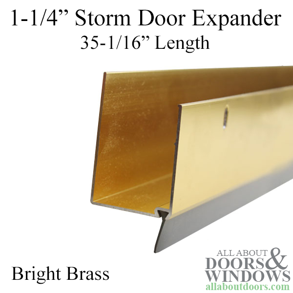 Expander, 1-1/4 inch thick, 35-1/16 Length - Bright Brass