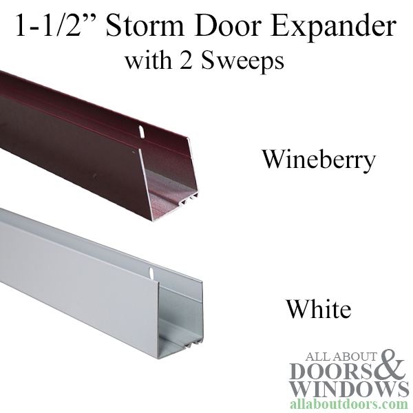 Storm Door Sweeps Storm Door Expander Andersen Vinyl