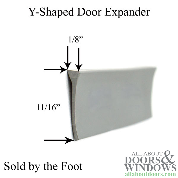 Sweep Y Shape Storm Door Expander Grey