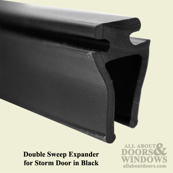 Larson Double Sweep Expander For Storm Door Black