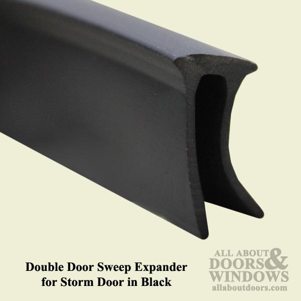 Larson Double Door Sweep Expander For Storm Door Black