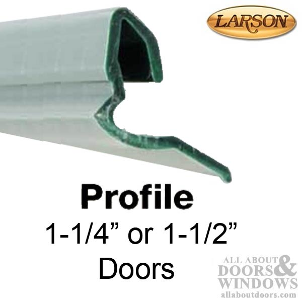 Larson Retainer Strip 1 1 4 Or 1 1 2 Full Glass Doors