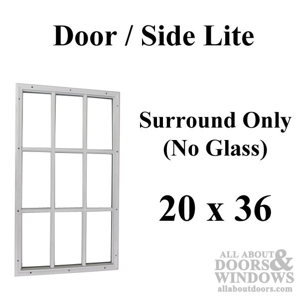 Therma Tru 20 X 36 X 12 Surround Only No Glass 9 Lite