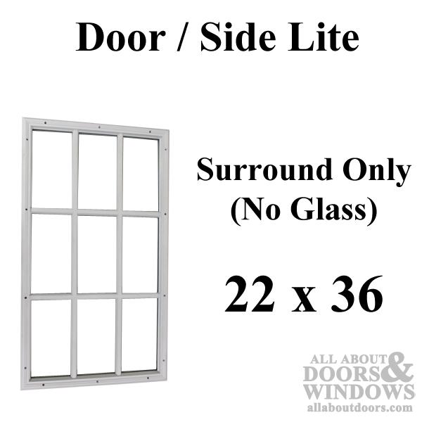 Therma Tru 22 X 36 1 2 9 Lite Surround NO Glass Door