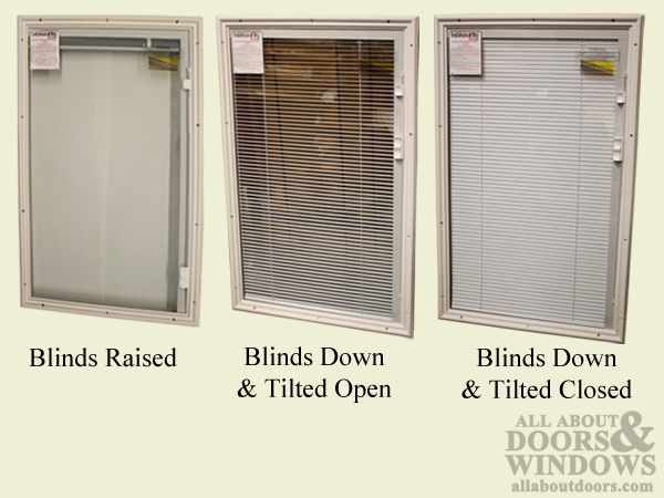 Windows With Internal Blinds Entry Door Half Lite