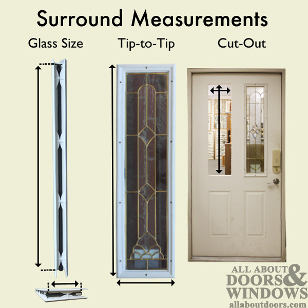 Therma Tru 22 X 64 X 1 2 15 Lite Surround W Glass Door Lite