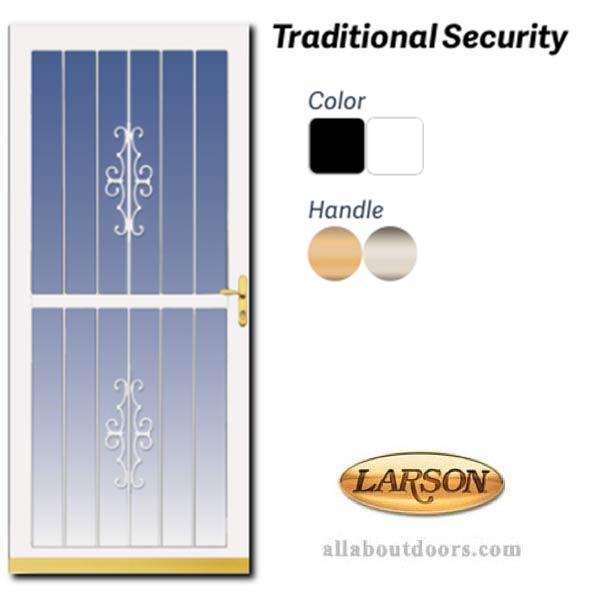 Larson Traditional Security Door Aluminum Frame