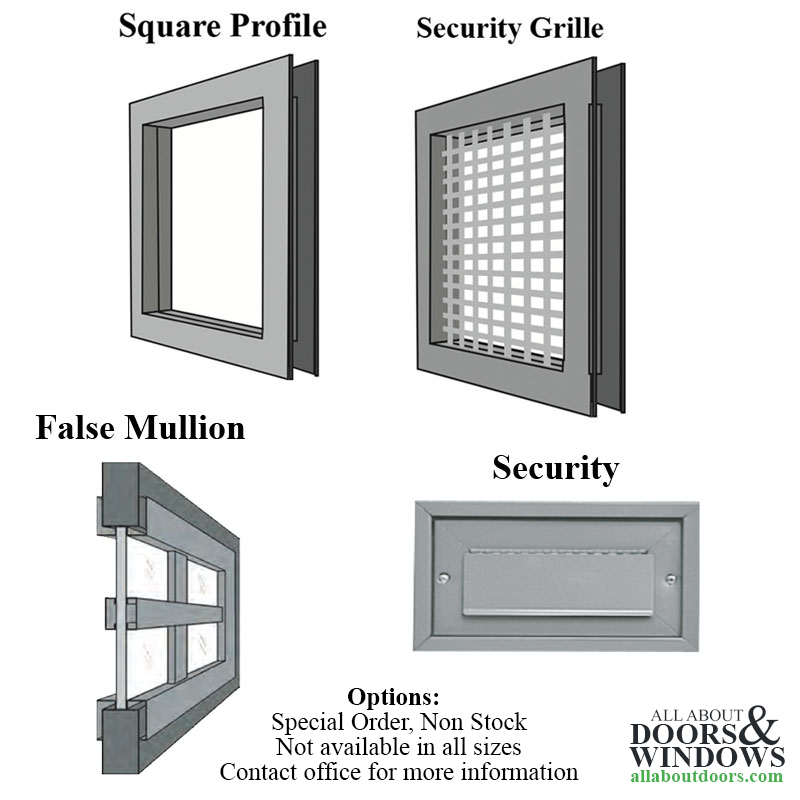 Commercial Door Light Frames 12 Quot X 12 Quot Low Profile Metal
