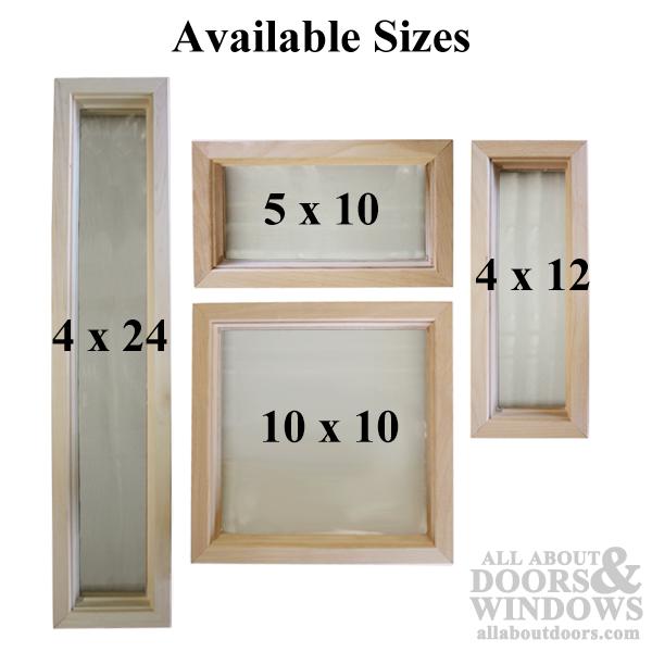 Wood Frame Door Lite 4 X 12 Single Pane Glass