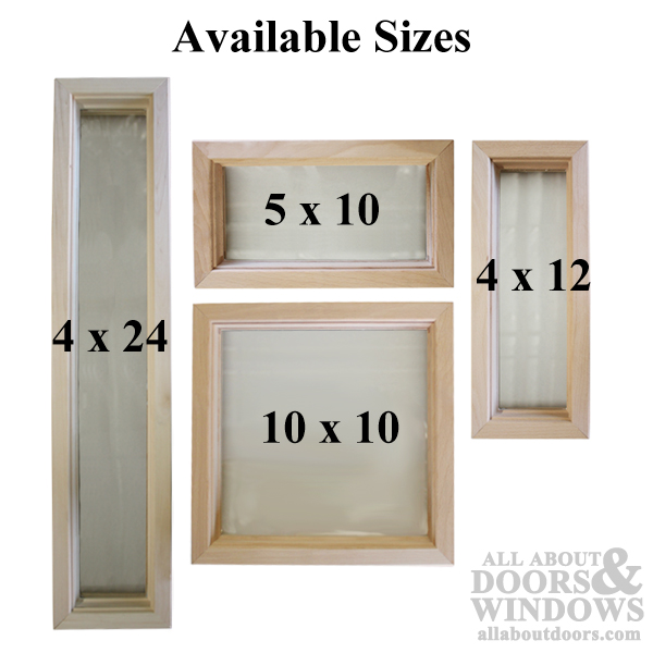Wood Frame Door Lite 5 X 10 Single Pane Glass