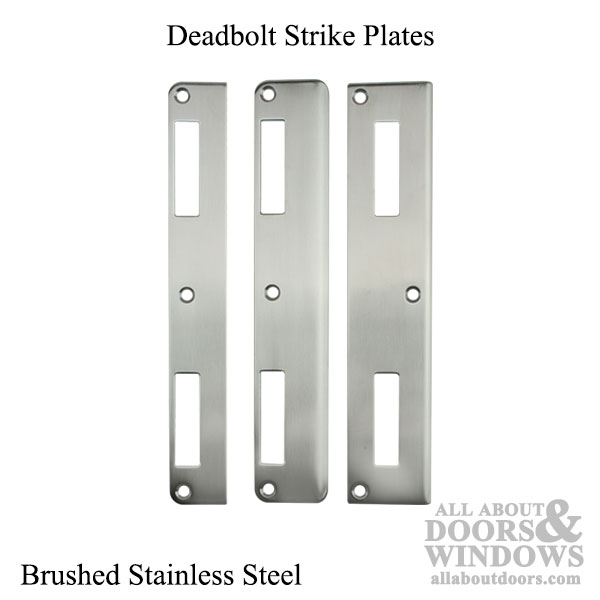 P3000 Active Latch And Deadbolt Curved Lip Strike Plate