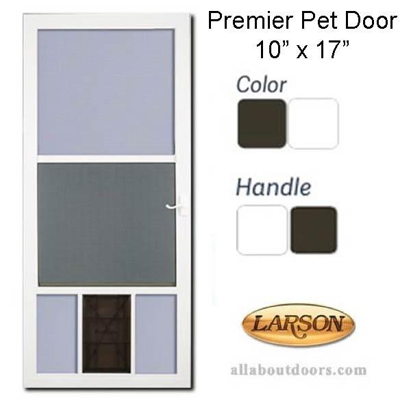 Larson Premier Pet View Storm Door 10 X 17 Flap Opening