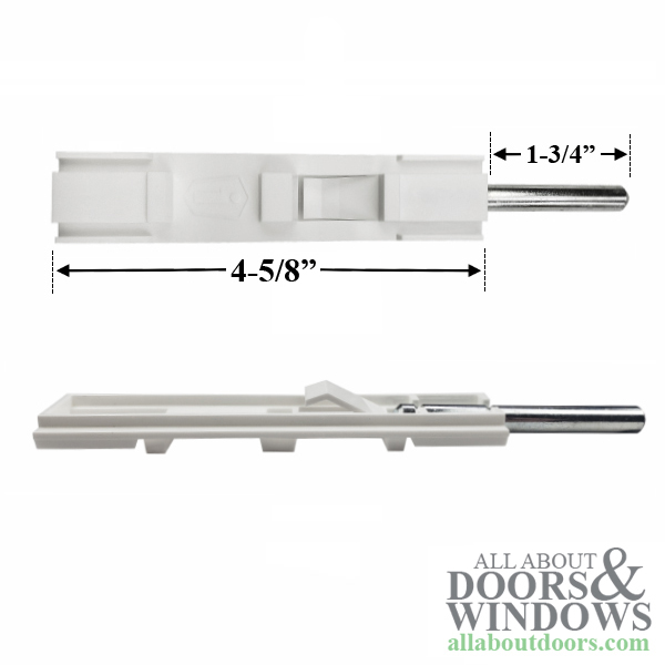 Astragal Slide Bolt Flush Bolt White