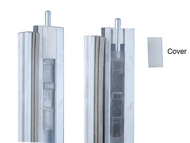 Plastic Flush Bolt Cover For Aluminum T Astragal White