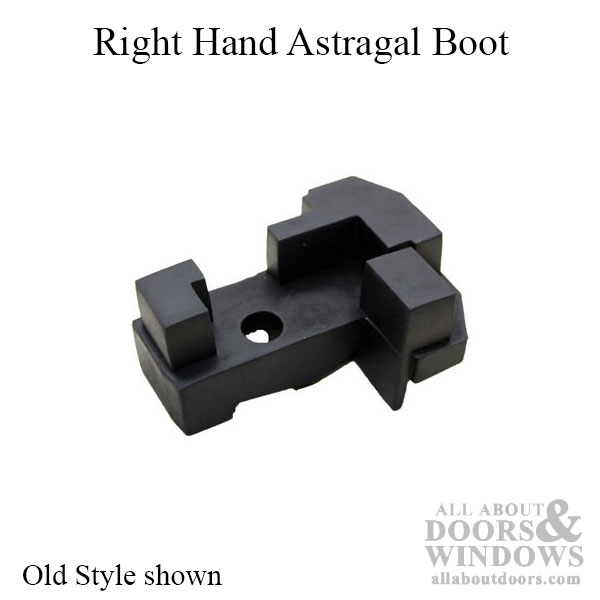 Astragal Boot Bottom Of Double Door Right Hand Black