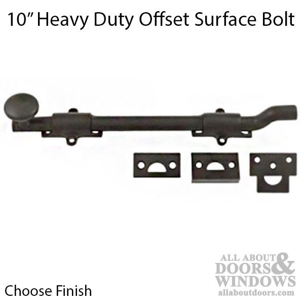 10 Quot Offset Flush Bolt Heavy Duty Brass Choose Finish