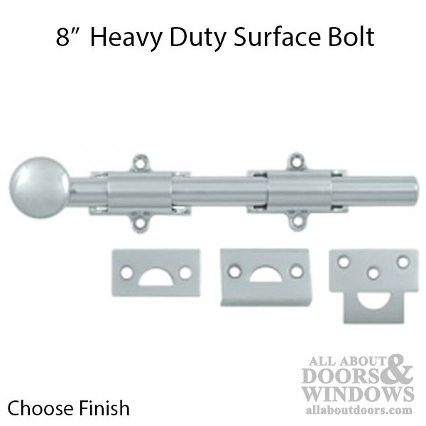 8 Quot Surface Bolt Heavy Duty Solid Brass Choose Finish
