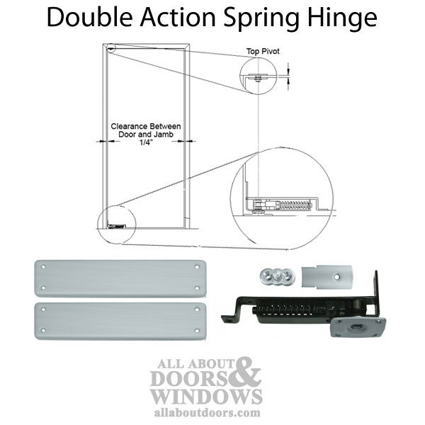 Double Action Spring Hinge Floor Mount Choose Finish