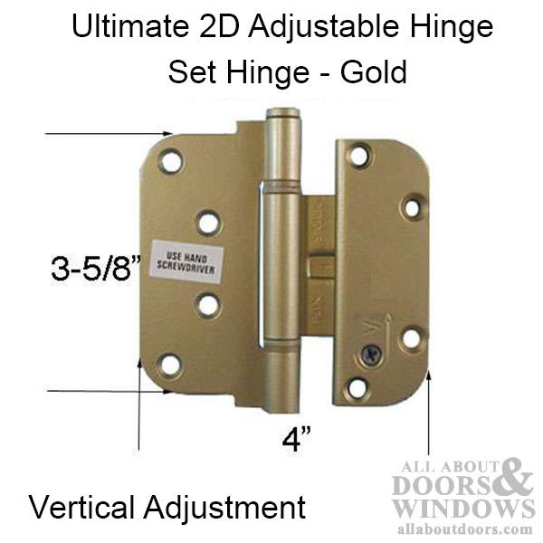 Ultimate 2d Adjustable Hinge 3 5 8 X 4 Set V Inswing
