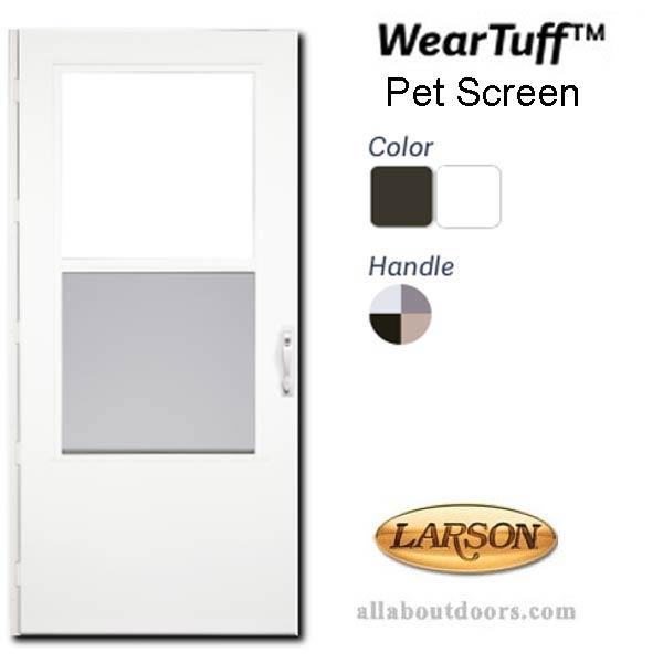 "Brown NEW   Fast Shipping!! Larson Life-Core® Reversa 32/"" Screen Storm Door"