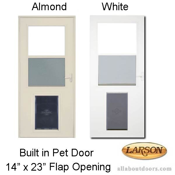 Larson Built In Pet Door 14 X 23 Flap Opening Storm Door