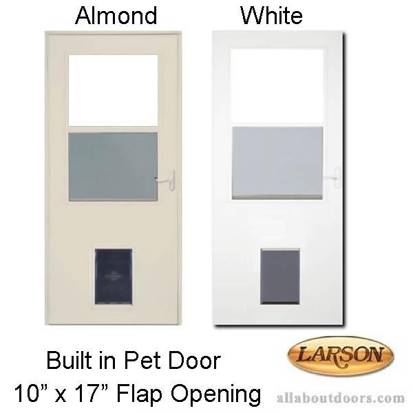 Larson Built In Pet Door 10 X 17 Flap Opening Storm Door