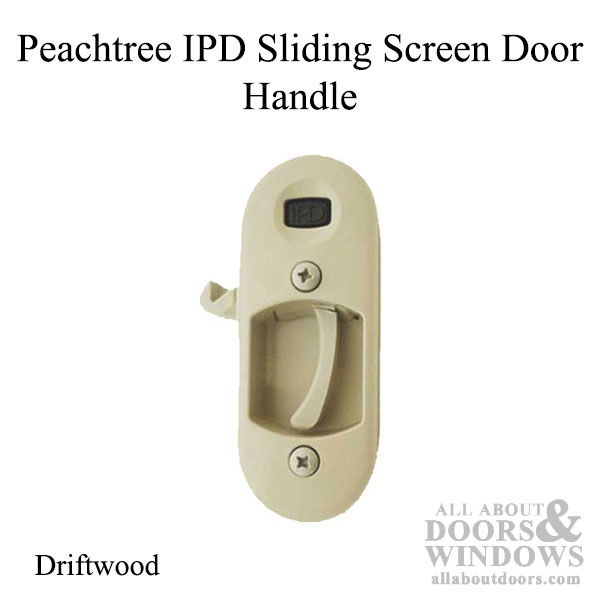 Peachtree Ipd Sliding Screen Door Handle And Strike Driftwood