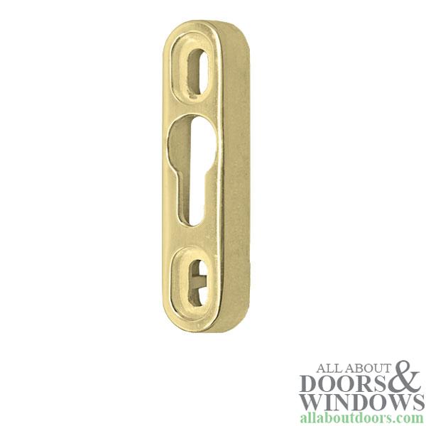 Slider Lock Keeper Kit For Sliding Patio Door Polished Brass