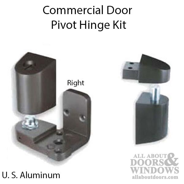 Choose Handing Left Hand ilco US Aluminum Style Storefront Door Pivot Hinge Set in Duronotic Finish