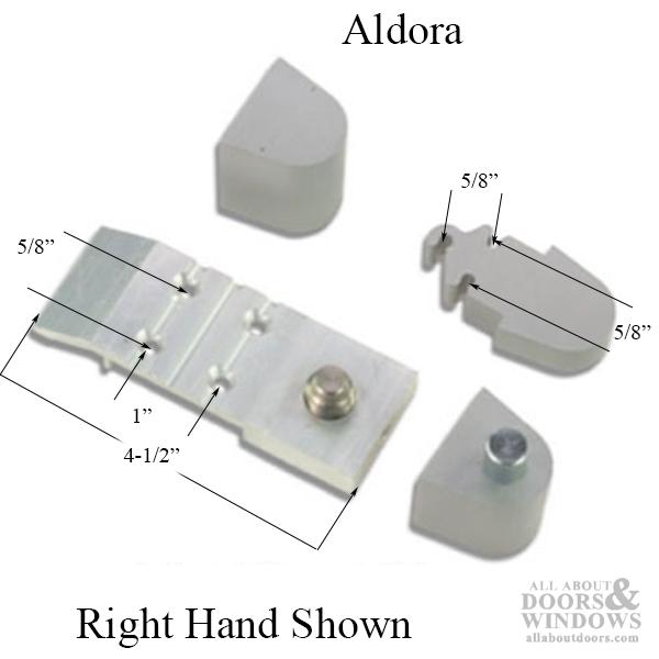 ALDORA OFFSET PIVOT HINGE SET for Aluminum Storefront Glass Commercial Doors