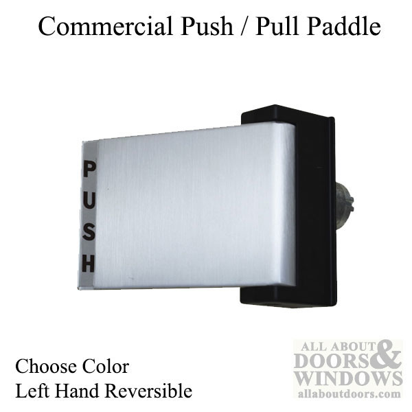 Commercial Doors Push Pull Exit Paddle Lh 2 Colors