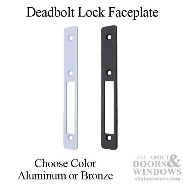 Commercial Deadbolt Lock Flat Faceplate Choose Color