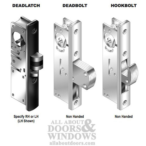 Hookbolt Mortise Lock 31 32 Backset W Faceplate Aluminum