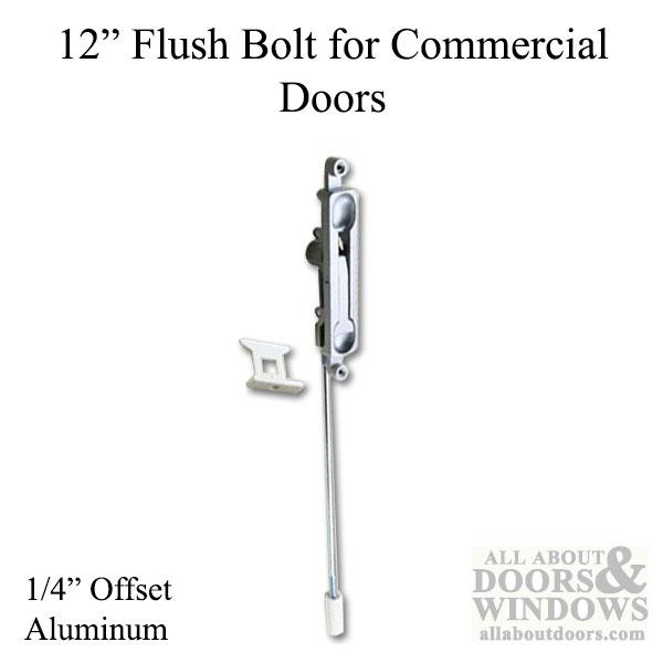 Flush Bolt 12 Inch 14bs Commercial Doors Hardware Aluminum