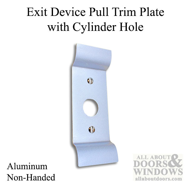 Pull Trim Plate With Cylinder Hole For Exit Device