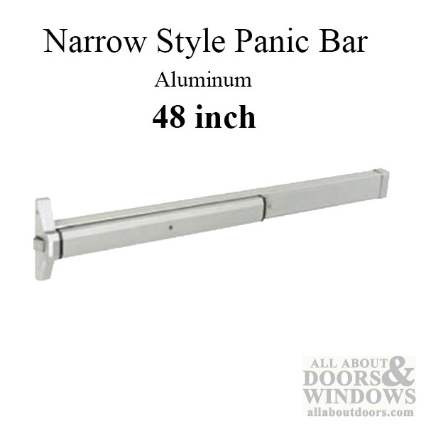 Exit Device Panic Bar Narrow Style Rim Type 48 Inch
