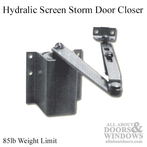 Hydraulic Screen Storm Door Closer 85 Pound Aluminum