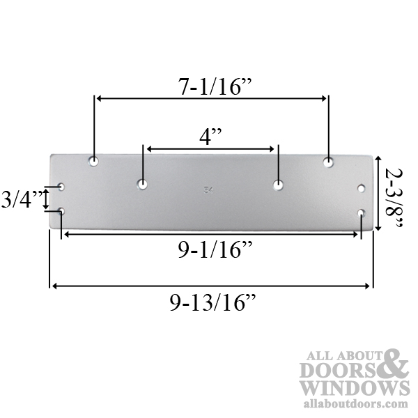 Drop Plate Mounting Plate For Door Closer Choose Color