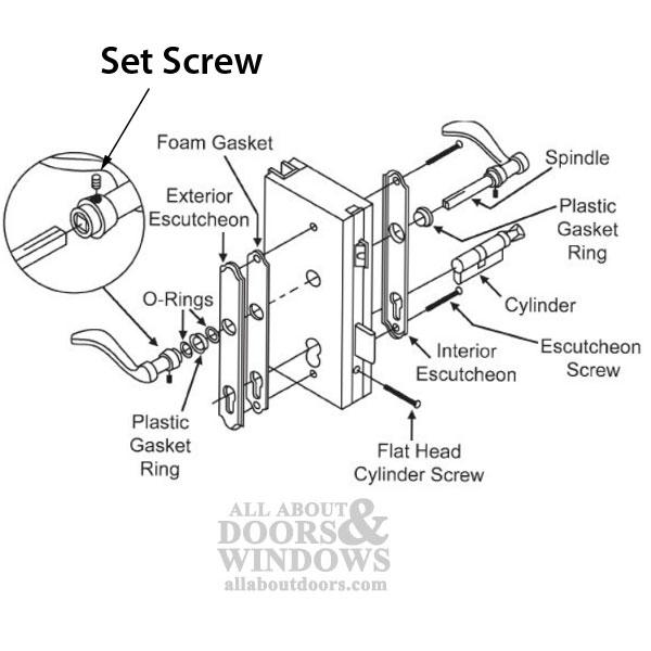 Set Screw Door Lever Handle