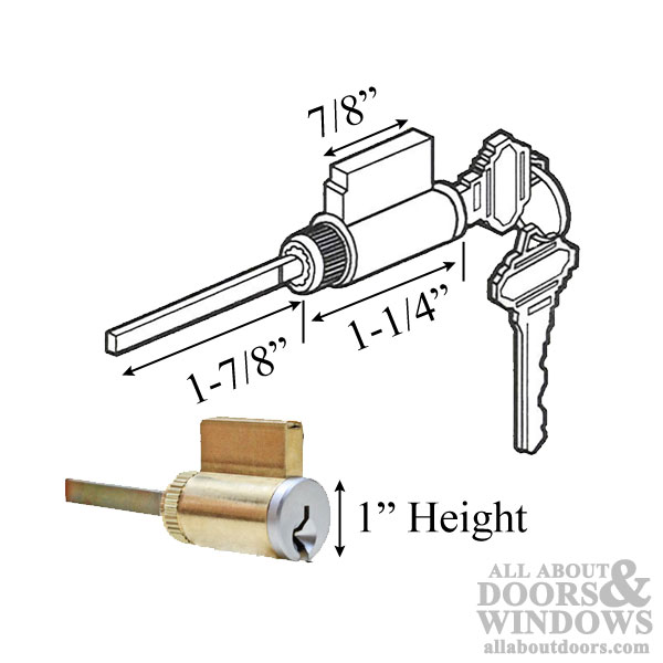 Cylinder 1 X 2 Quot Tail Piece For 2 1 4 Door Schlage Key