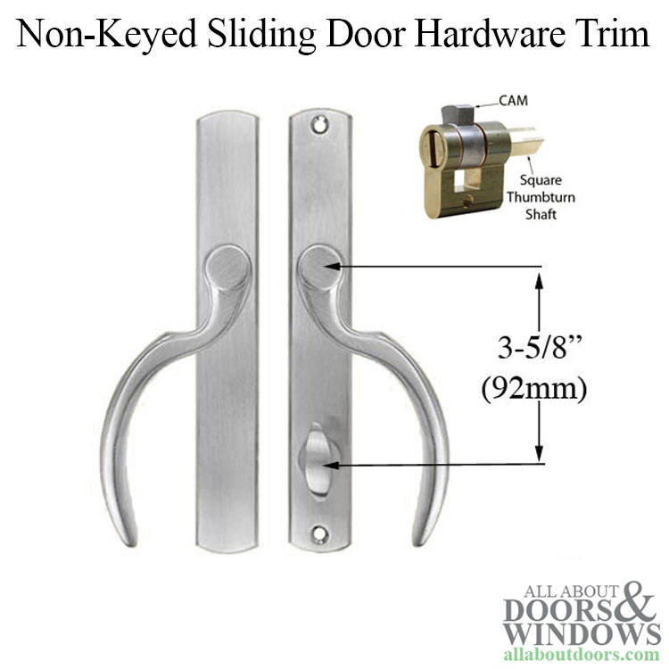 Fontana Non Keyed Patio 1 75 Sliding Door Hardware Trim