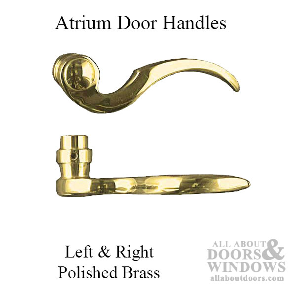Polished Brass One Pair Atrium Door Levers