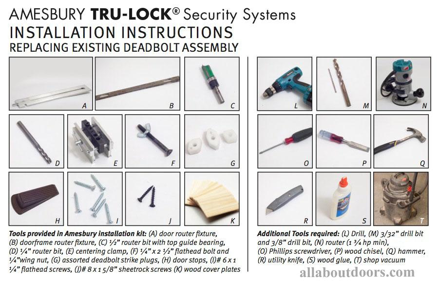 Contractor S Installation Kit Tru Lock Deadbolt Install