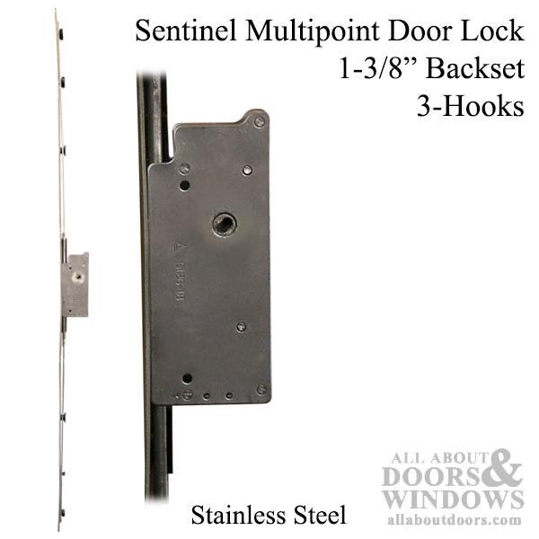 Sentinel Multipoint Sliding Door Lock 3 Hooks 35mm Narrow