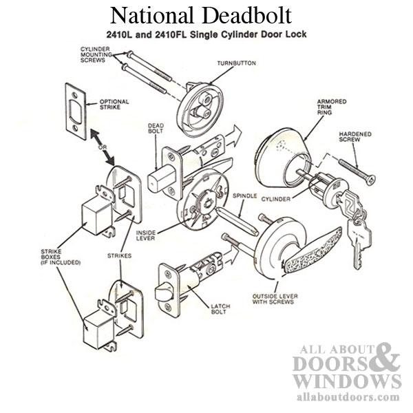 dead bolt diagram parts of a single cylinder deadbolt lock - new images bolt