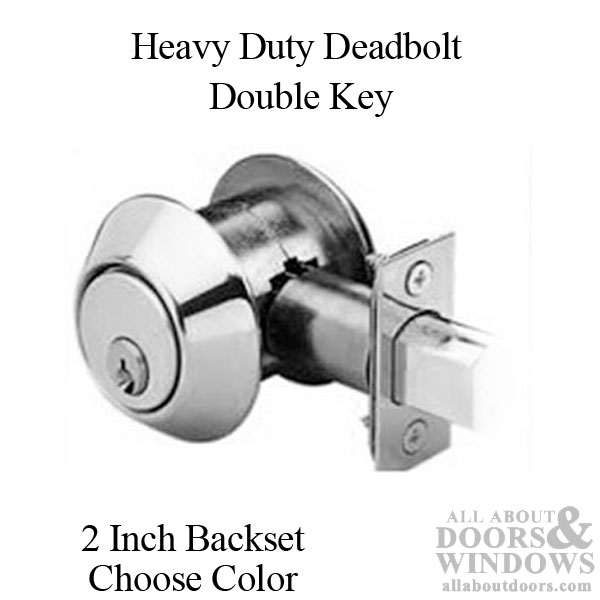 Deadbolt 2 Inch Backset Heavy Duty Double Key Choose