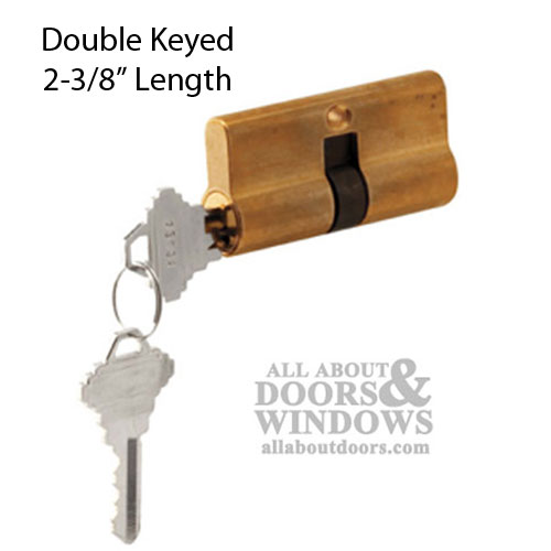 32 32 Active Keyed Cylinder Lock Double Keyed Solid Brass