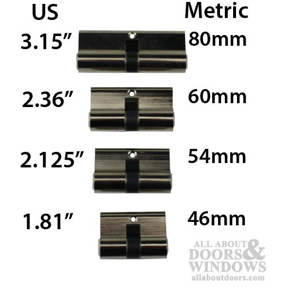 32 32 Active Keyed Patio Door Double Keyed Profile