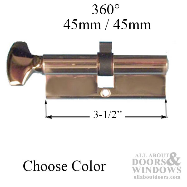 45 45 Euro Cylinder Only For 2 3 4 Inch Thick Door