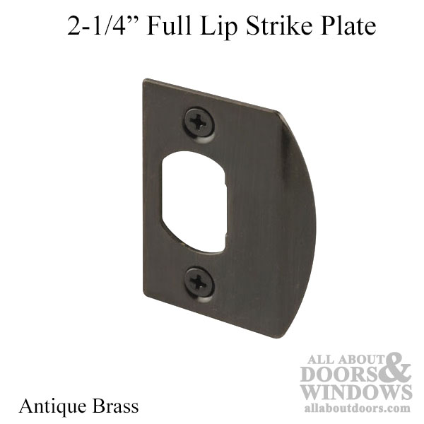 2 1 4 Quot Full Lip Strike Plate With Adjustable Tab Antique